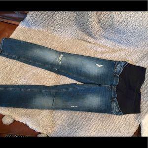 H&M destructed maternity skinny jeans